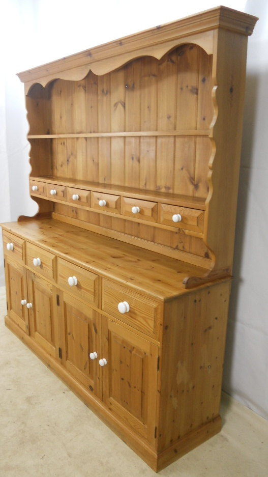 Dining Settee Large Pine Welsh Dresser Cupboard - Sold